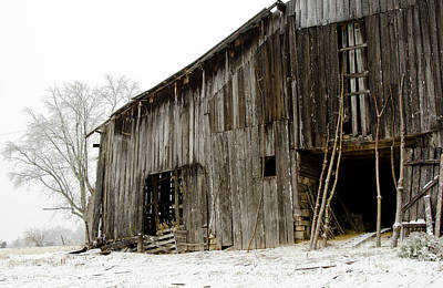 Poster featuring the photograph Cold Winter At The Barn  by Wilma  Birdwell