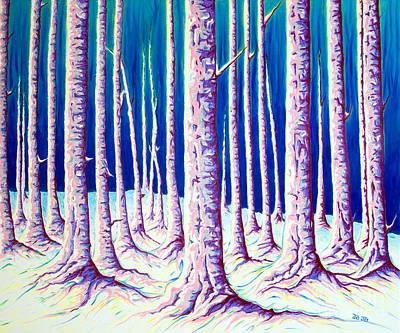 Cold Winter Forest Poster by Jo-Anne Elniski
