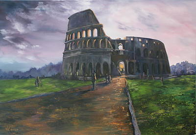 Poster featuring the painting Coliseum Rome by Jean Walker