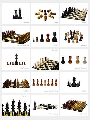 Collage Chess Stories 2 - Featured 3 Poster by Alexander Senin