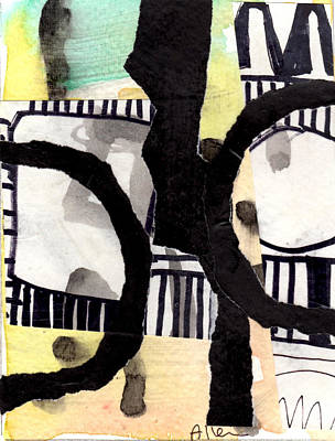 Collage Drawing Two Poster by Richard Allen