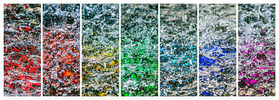 Collage Liquid Rainbow 1 - Featured 3 Poster by Alexander Senin