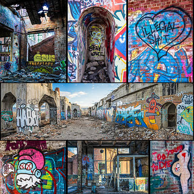 Poster featuring the photograph Collage Of Graffiti by Steven Santamour