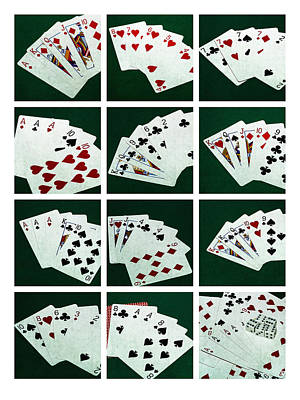 Collage Poker Hands 1 Poster