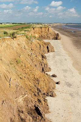 Collapsed Coastal Cliffs Near Aldbrough Poster by Ashley Cooper