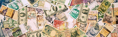 Collection Of Currencies Of Various Poster by Panoramic Images