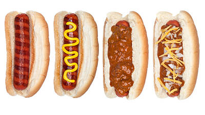 Collection Of Hotdogs Poster