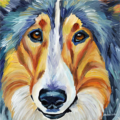 Collie Poster by Melissa Smith