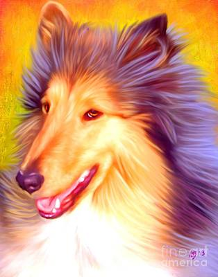 Collie Pet Art Poster