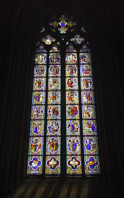 Cologne Cathedral Stained Glass Life Of Christ Poster