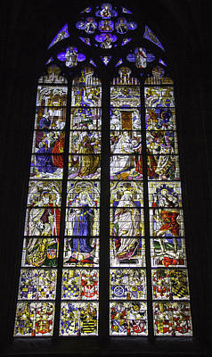 Cologne Cathedral Stained Glass Window Of The Three Holy Kings Poster by Teresa Mucha