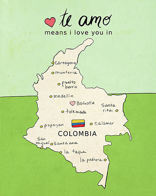 Colombia Poster by Lisa Barbero