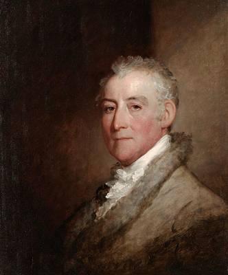 Colonel John Trumbull, 1818 Oil On Wood Panel Poster by Gilbert Stuart
