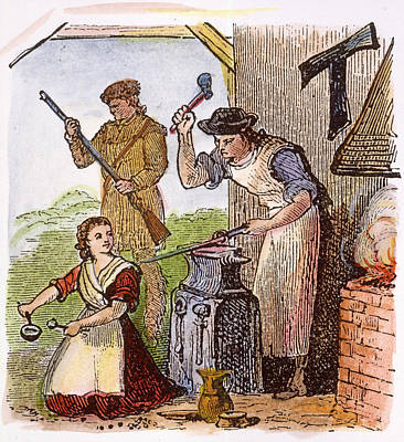 Colonial Blacksmith, 18th C Poster