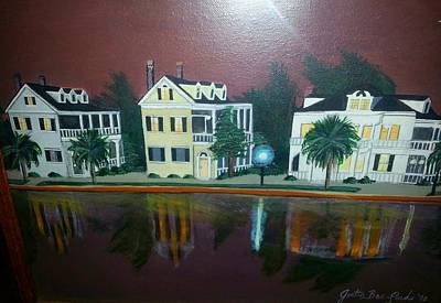Colonial Lake View Poster by Joetta Beauford