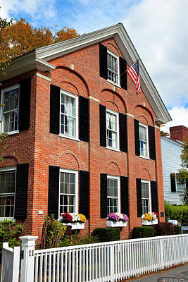 Colonial Style Building In Woodstock Poster by Brian Jannsen