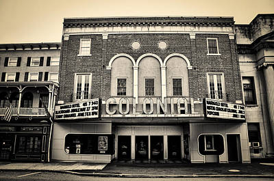 Colonial Theater In Phoenixville In Sepia Poster by Bill Cannon