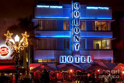 Colony Hotel South Beach Poster by Rene Triay Photography