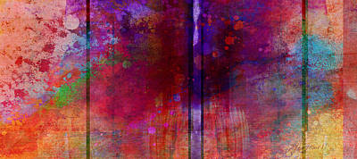 Color Burst Two Abstract Art  Poster