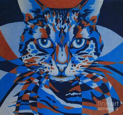 Poster featuring the painting Color Cat IIi by Pamela Clements