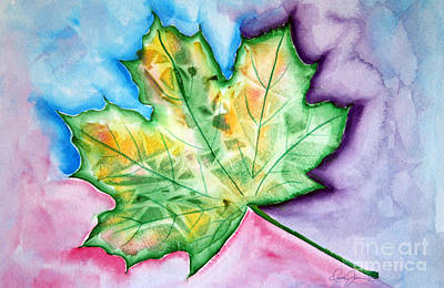 Color Leaf Poster by Dani Abbott