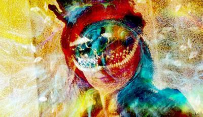 Color Mask Poster by Linda Sannuti