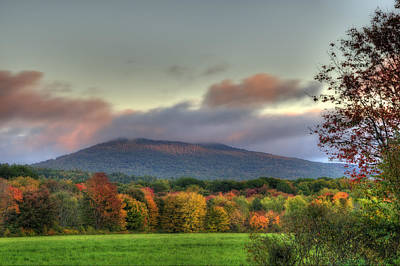 Color On Crotched Mountain - Nh Poster by Joann Vitali