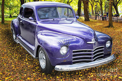 Color Photograph Of A Complete 1948 Plymouth Classic Car 3388.02 Poster by M K  Miller
