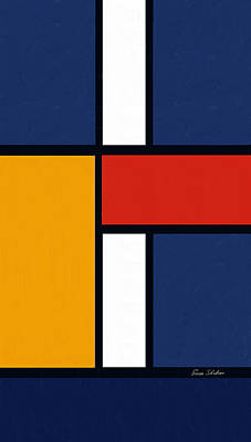 Color Squares - Mondrian Inspired Poster by Enzie Shahmiri