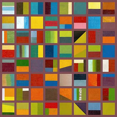 Color Study Collage 65 Poster by Michelle Calkins