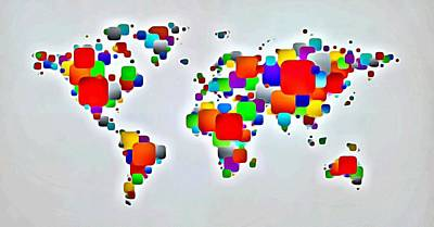 Color The World Poster by Florian Rodarte