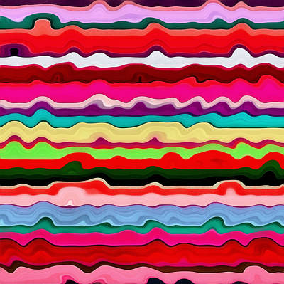 Color Waves No. 1 Poster by Michelle Calkins