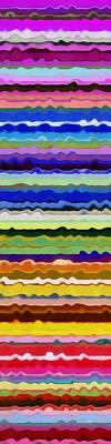 Color Waves No. 5 Poster by Michelle Calkins