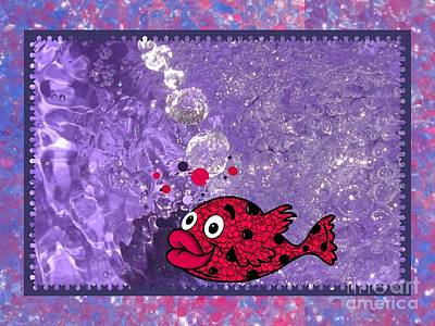 Color Your World Kids Bath Fish Poster by Margaret Newcomb