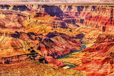 Colorado River 1 Mi Below 100 Miles To Vermillion Cliffs Utah Poster by Bob Johnston