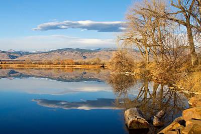 Colorado Rocky Mountain Lake Reflection View Poster by James BO  Insogna