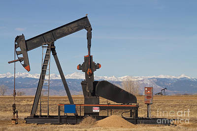 Colorado Rocky Mountain Oil Wells Poster by James BO  Insogna