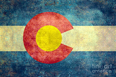 Colorado State Flag Poster by Bruce Stanfield