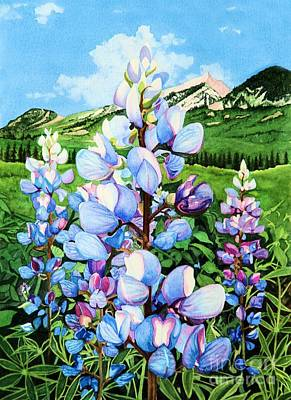 Poster featuring the painting Colorado Summer Blues by Barbara Jewell