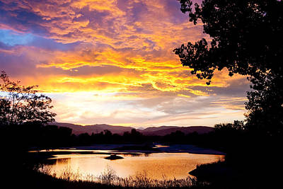 Colorado Summer Sunset Poster