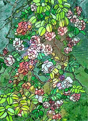 Colored Rose Garden Poster by Georgiana Romanovna