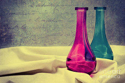Colored Vases Poster by Angela Doelling AD DESIGN Photo and PhotoArt