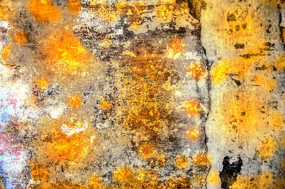 Colored Weathered Wall Poster