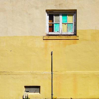 Colored Window Poster by Julie Gebhardt