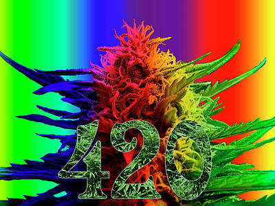Colorful 420 Art Poster