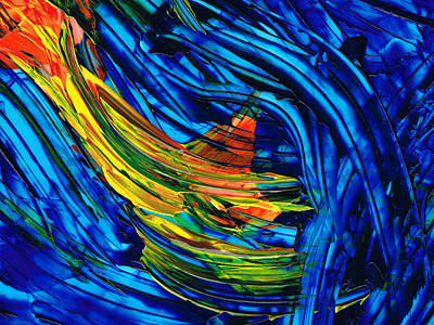 Colorful Abstract Art - Energy Flow 3 - By Sharon Cummings Poster