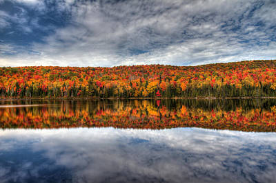 Colorful Autumn Reflection Poster by Pierre Leclerc Photography