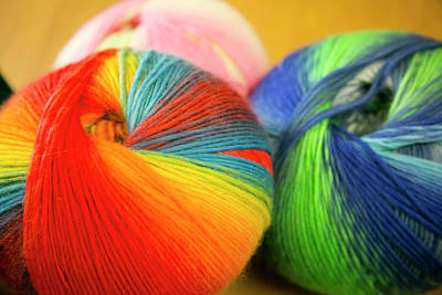 Colorful Balls Of Yarn, Taos, New Poster by Julien Mcroberts