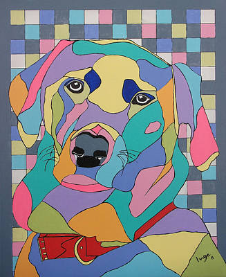 Colorful Bear Poster by Inge Lewis