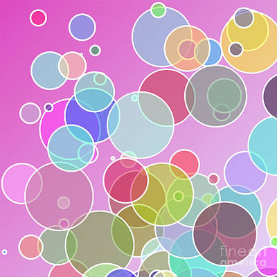 Colorful Bubbles Poster